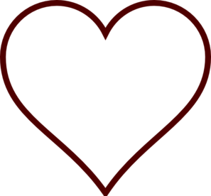 solid black heart clip art