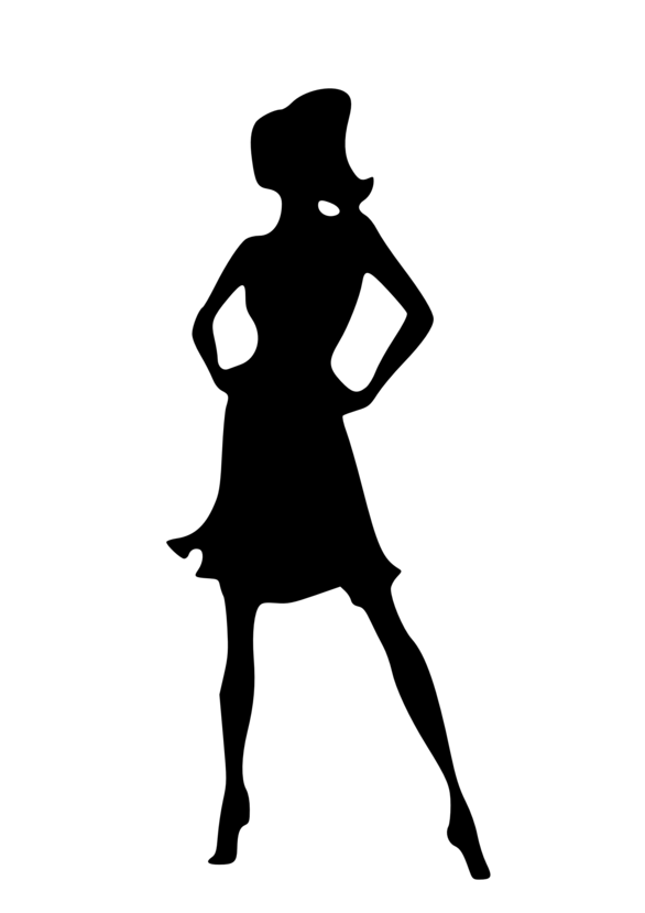 black silhouette of woman sta