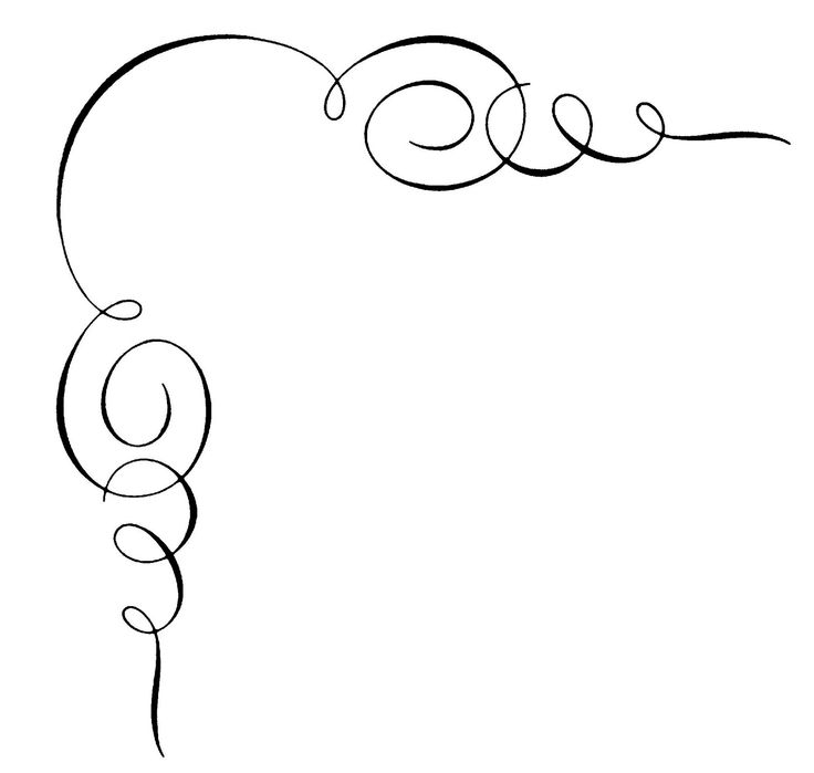 swirl border clipart