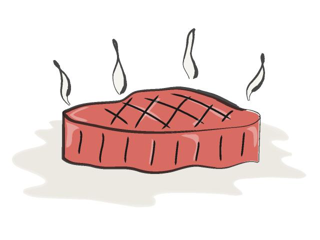 02 Steak Roast Royalty Free Graphics For Designers Stock