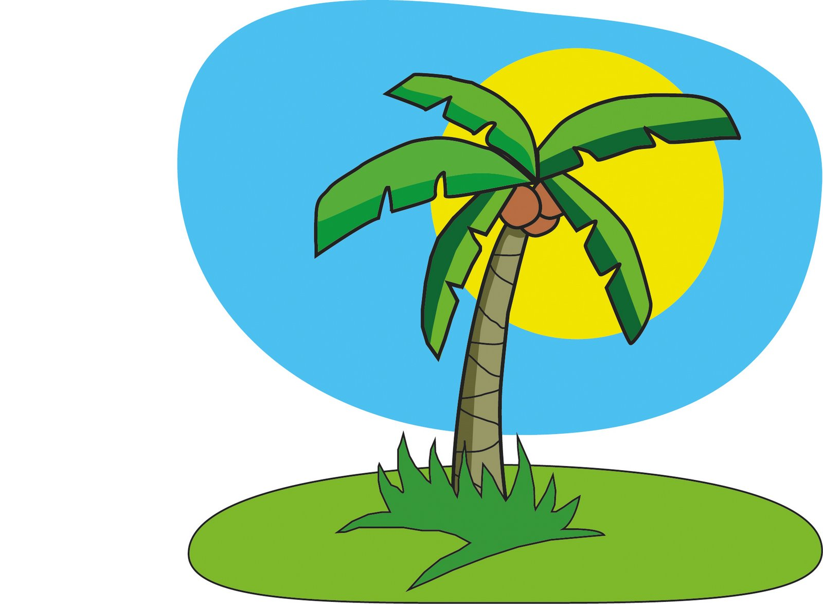 10 Coconut Tree Cartoon Free Cliparts That You Can Download To You