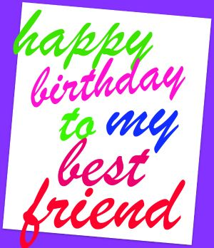 Happy Birthday Friend Clipart