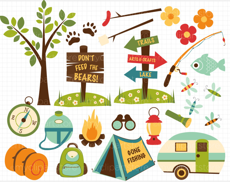 1000  images about Camping Theme on Pinterest | Woodland creatures, Clip art and Happy campers