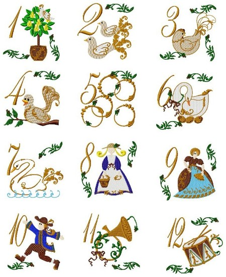 12 Days Of Christmas Clip Art