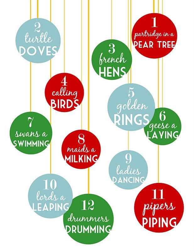 12 Days of Christmas {Free .