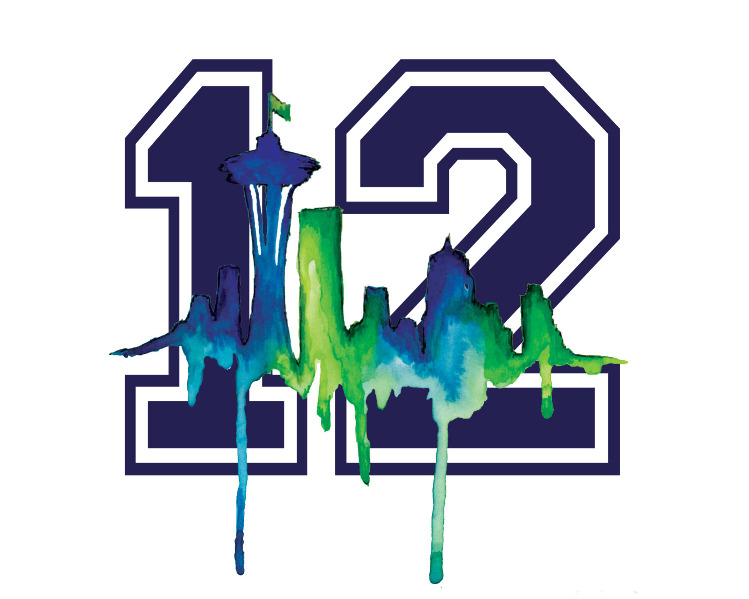 12th man, Seahawks and Seattle .