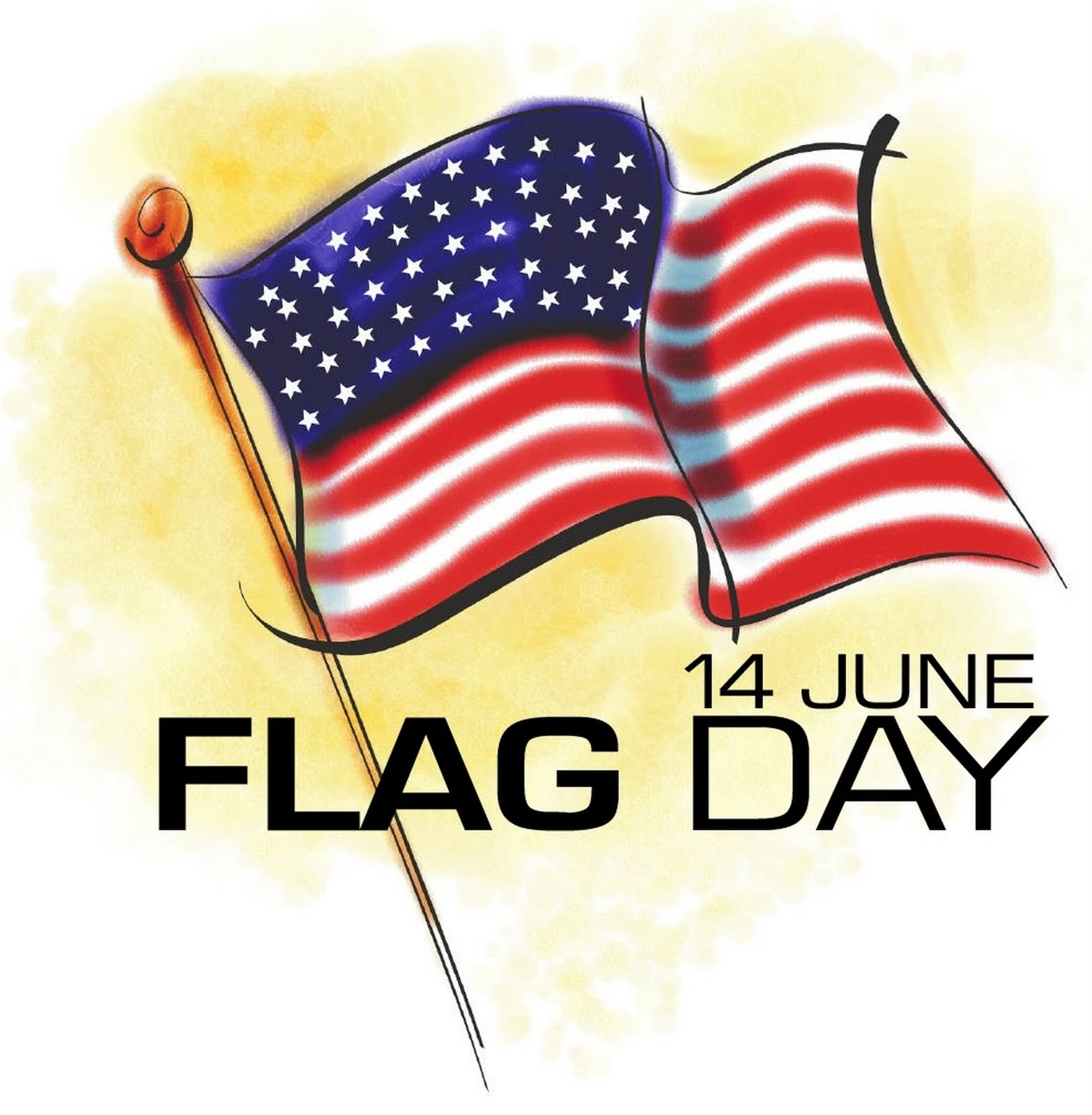 14 June American Flag Day Clipart