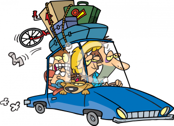 157 Frantic Family All Piled Into The Car Going On Vacation