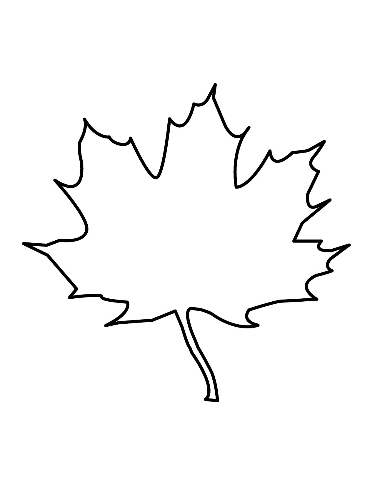 18 Fall Leaves Outline Free Cliparts That You Can Download To You