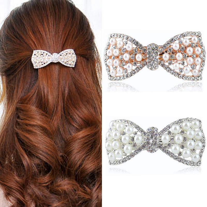 1Pcs Hair Clips Crystal Rhinestone Hairpin Professional Hairdressing Hair Accessories Styling Tools Head To Weave Hairstyles