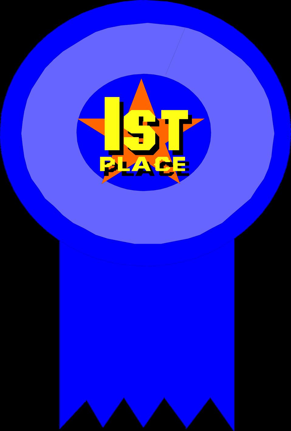 1st place award ribbon clipart