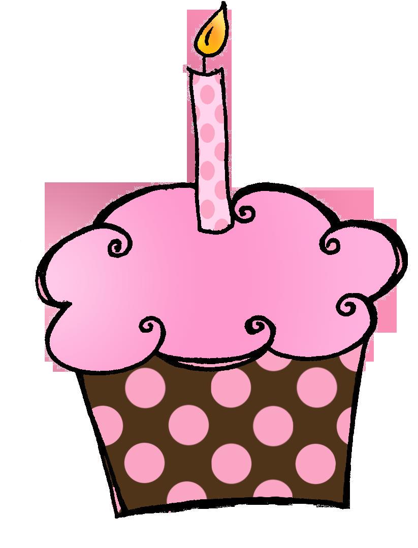1st Grade Birthday Cupcake .