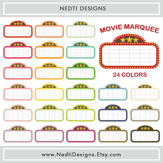 24 movie marquee clipart .