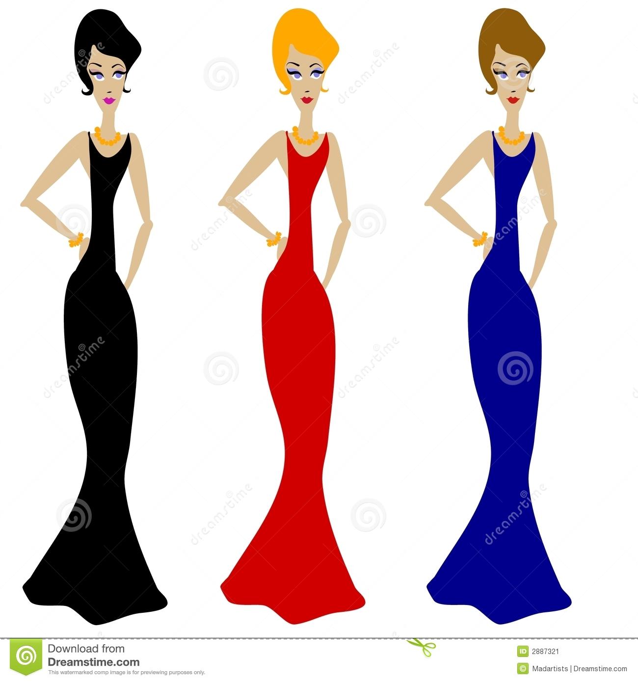 3 Women Clipart #1