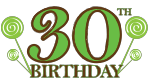 30th Birthday, 30th Birthday 2, 30 Clipart