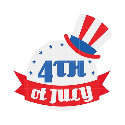 4th of July Clip Art - Quarter Clipart