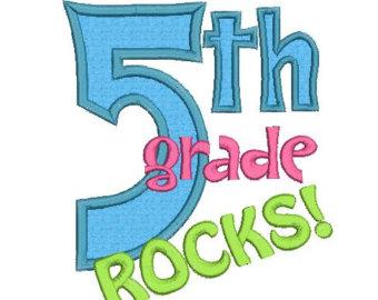 5th Grade Rocks Applique Machine Em Broidery Designs