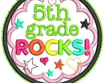 5th Grade Rocks Clipart 5th Grade Rocks Applique