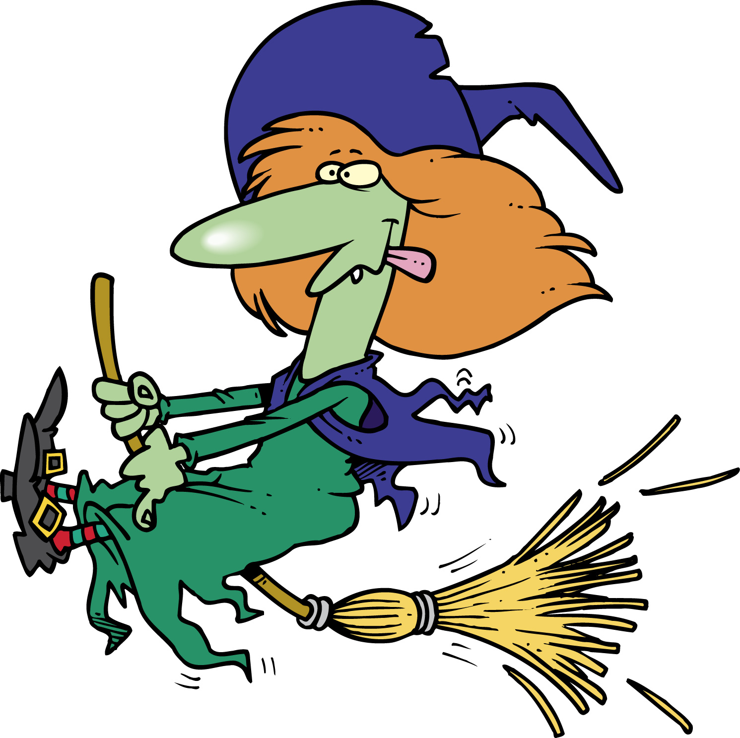 6 witch clipart fans