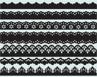 60  Lace Borders Clip Art