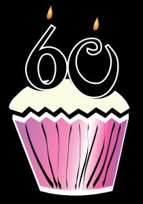 60th Birthday Cupcake 2