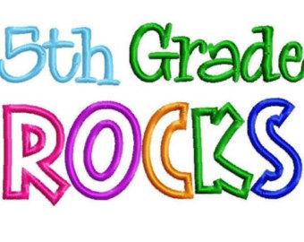 6th Grade Rocks Clip Art 5th Grade Rocks Embroidered