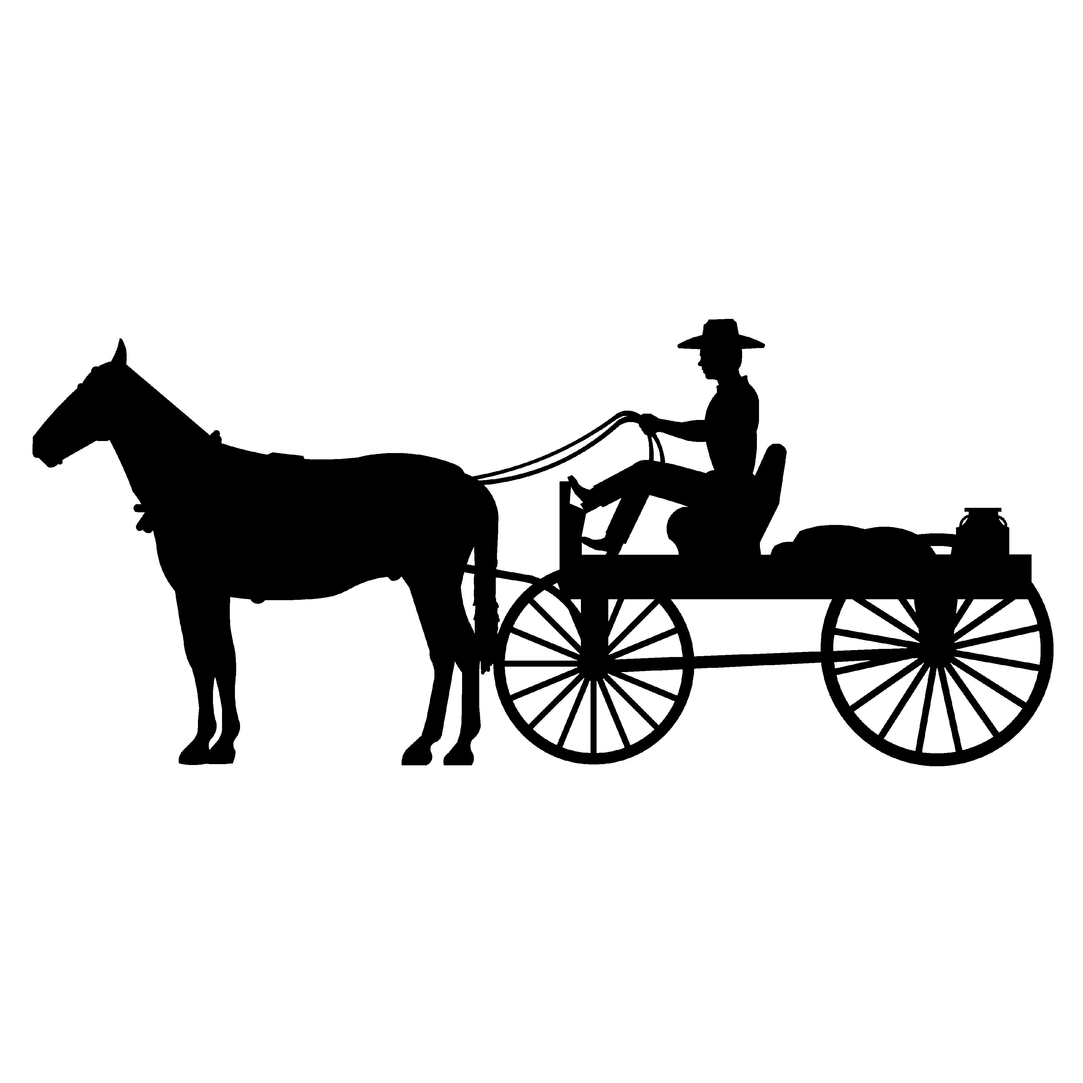 7  Amish Buggy Clip Art
