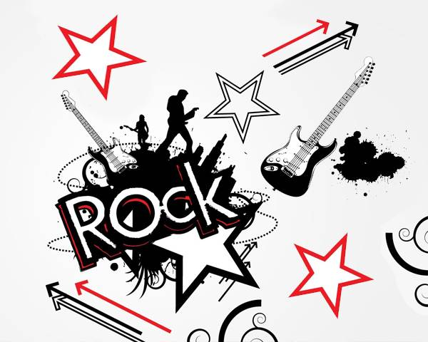 80s Rock Star Clipart