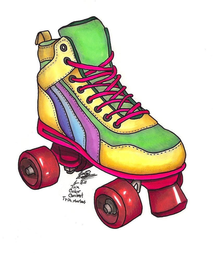 80s Roller Skate Clipart Free Clip Art Images