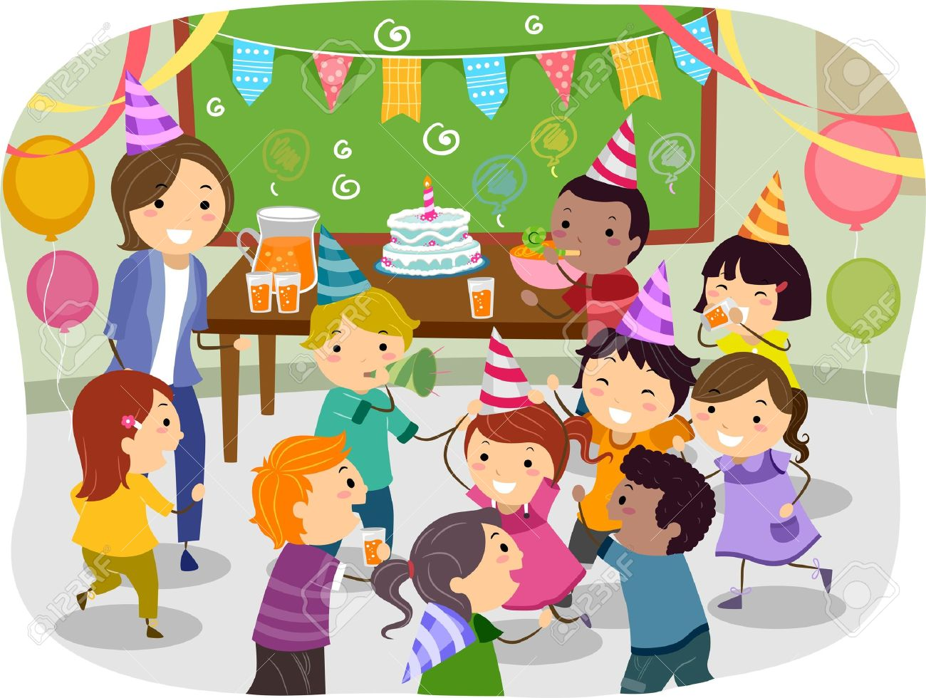 a Birthday Party at School .