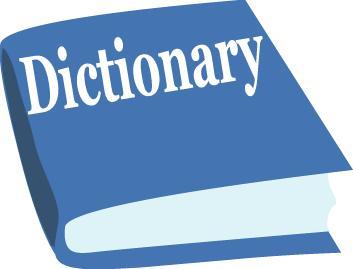 A Blue Clip-art Dictionary, .