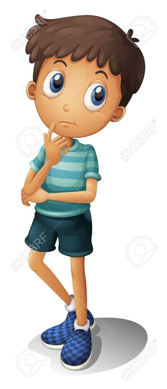 A Boy Thinking Clipart