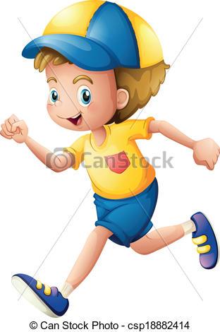 A little boy running - .