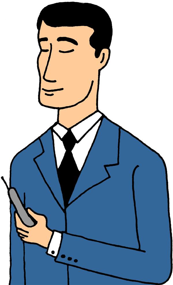 A Perfect World - Clip Art: Communications. Man Clip Art