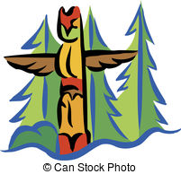 ... A totem pole and trees