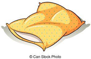 ... A yellow pillow - Yellow polkadot pillow on a white.