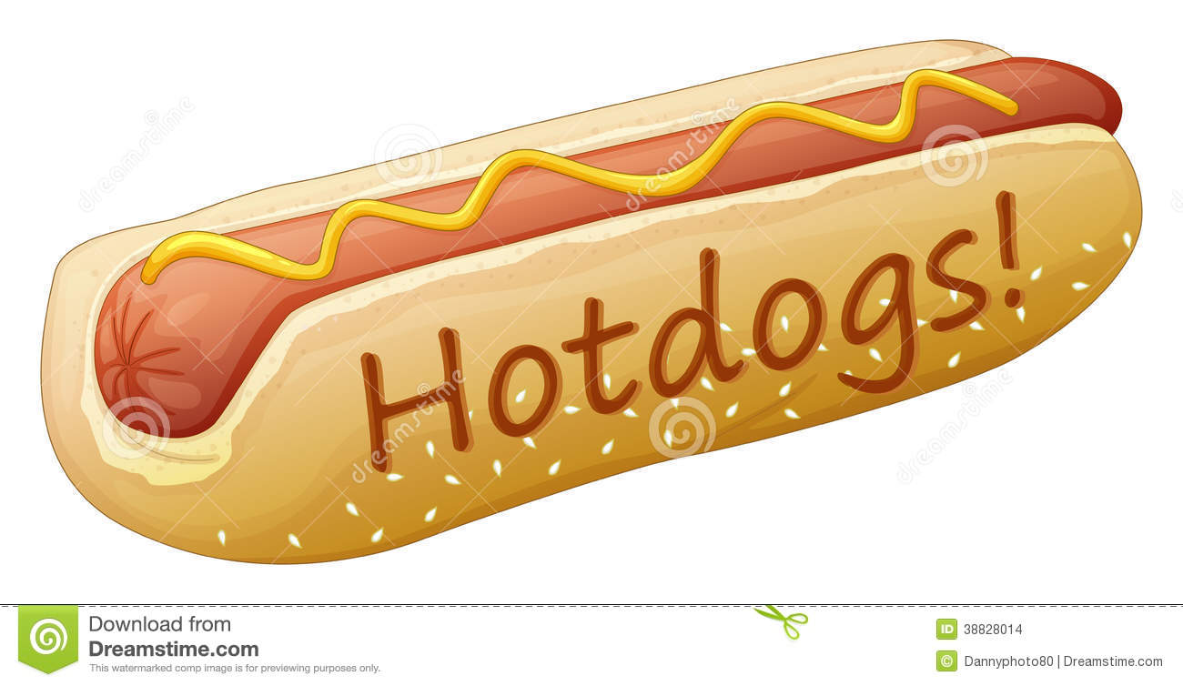 A yummy hotdog Stock Images