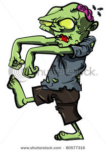 A Zombie Walking with an .