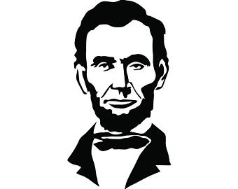 Abraham Lincoln #2 President Famous American History Statue School  Education Student Logo .SVG .
