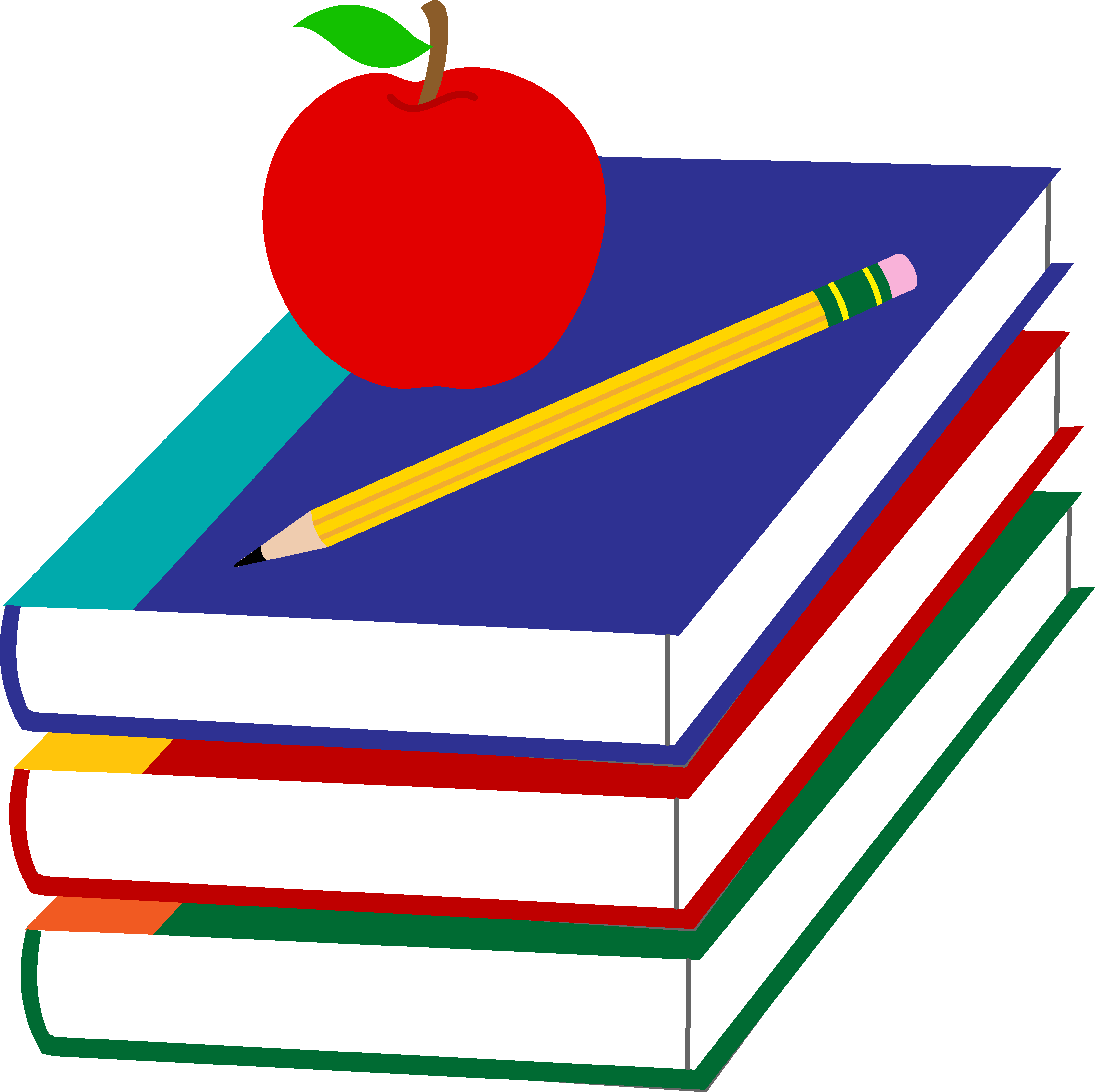 Academic Clipart Images. Stack of School Books