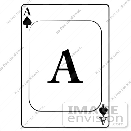 #13265 Ace of Spades Playing Card Clipart by DJArt