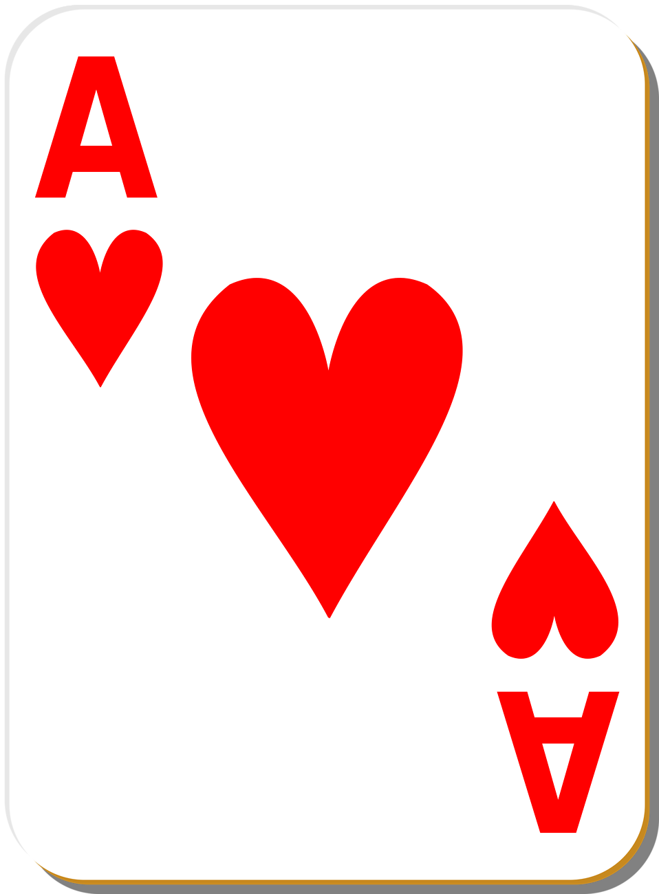 Ace Heart Playing Card Clip Art
