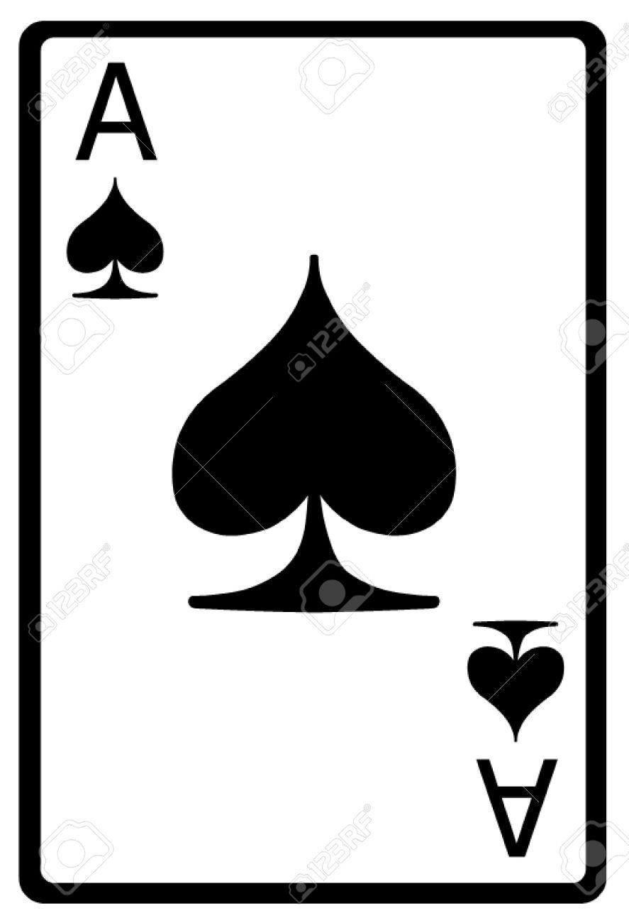 Ace of Spades Playing Card Stock Vector - 50155631