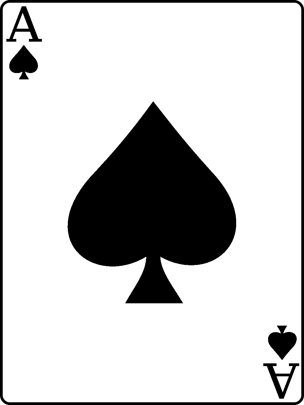 Cards clipart ace spades #3