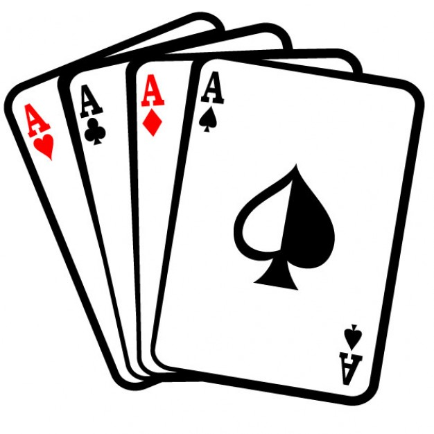 Four aces poker cards clip art Free Vector