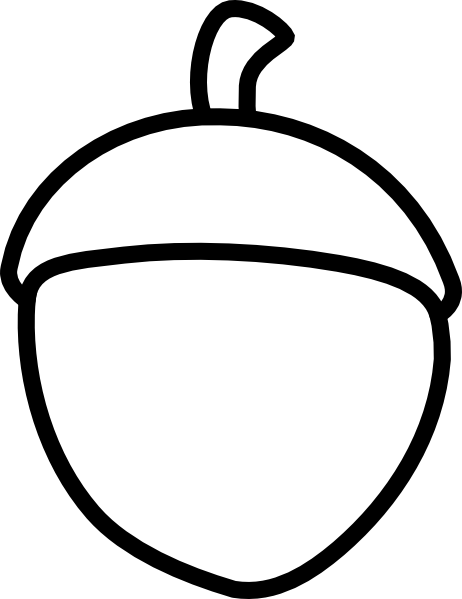 acorn clipart black and white
