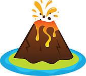 ... active volcano ...