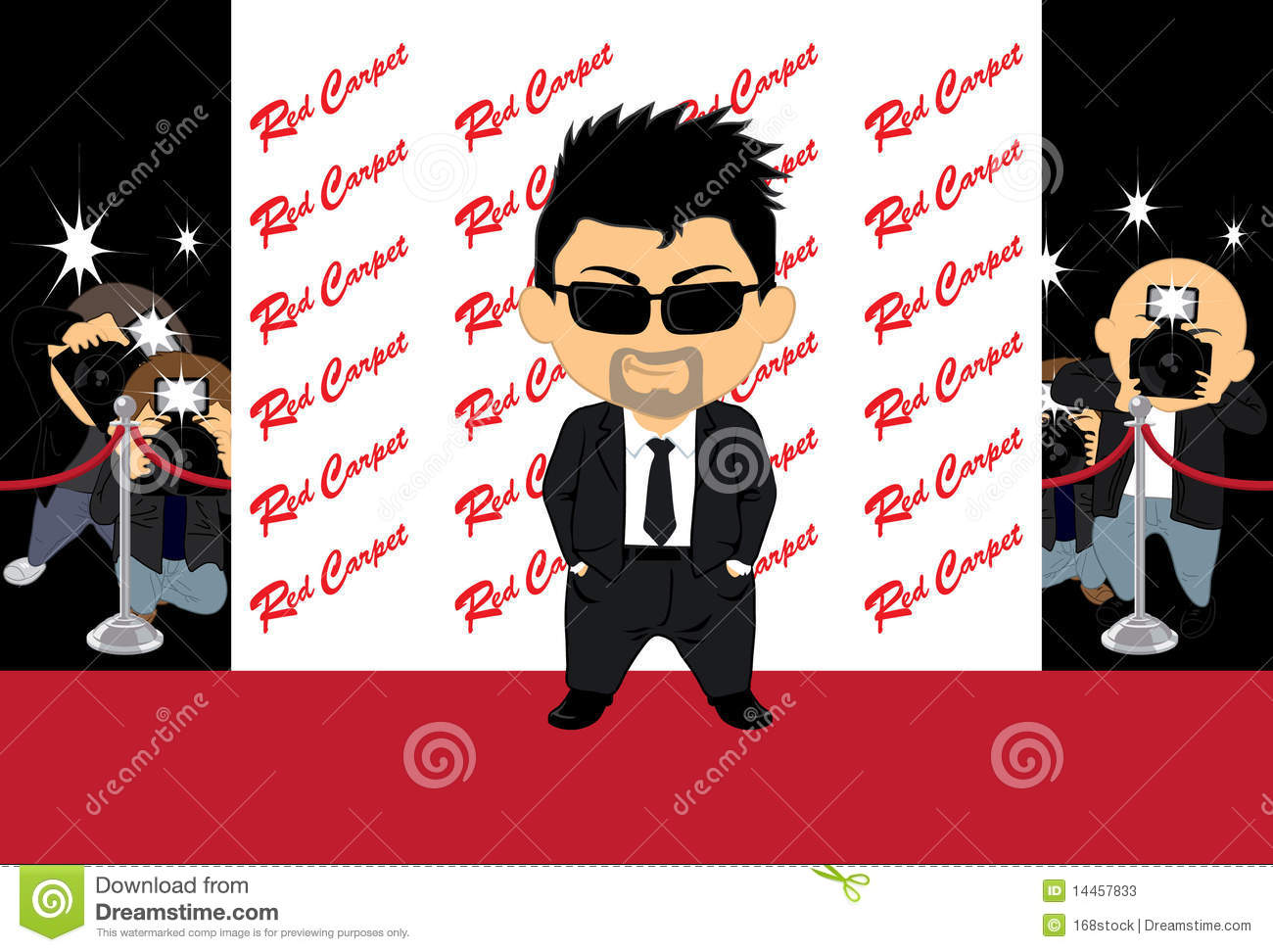 Hollywood Actor 2. Hollywood actor posing in red carpet Stock Photos