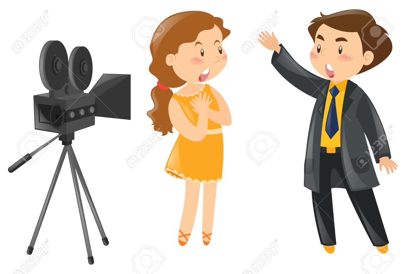 . Hdclipartall.com Splendid Design Acting Clipart Two Actors Out In Front Of Camera  Illustration Royalty Free Hdclipartall.com