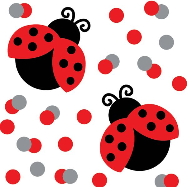 Add some whimsy to the tables at your ladybug-themed party with cute Lady Bug Fancy First Birthday confetti - ideal table sprinkles.